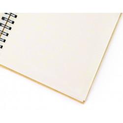 Kraft notebook 100mm x 120mm - Ivory paper