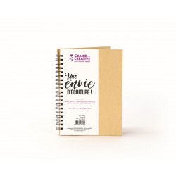 Kraft notebook 130mm x 180mm - White paper dots pages