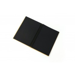 Kraft notebook 130mm x 180mm - Black paper