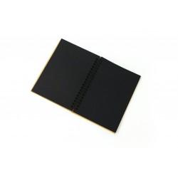 Kraft notebook 180mm x 240mm - Black paper