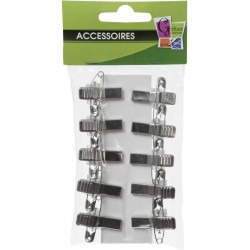 10 ADHESIVE CLIPS 28mm
