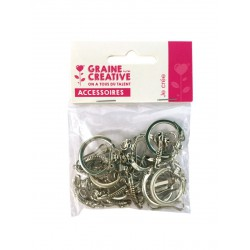 PK OF 10 KEY RINGS WITH SNAP-HOOK