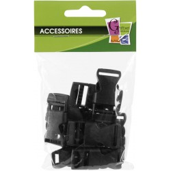10 PLASTIC BUCKLES 15mm