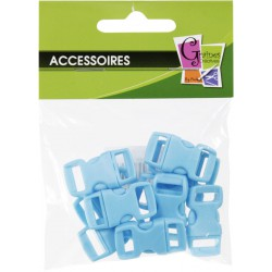 10 PLASTIC CLIPS BLUE 10mm/30x15mm