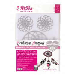 SET SHRINK PLASTIC DREAMCATCHERS JEWELRY WITH LASER CUTTING 408x200mm