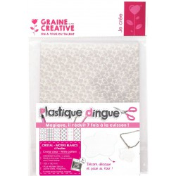 PK 6 CLEAR PLASTIC SCHRINK WHITE PATTERNS 101x131mm