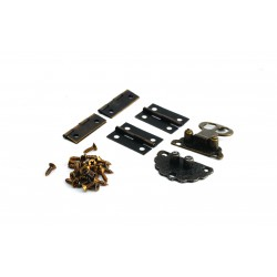 1 Clasp + 4 Hinges + 22 Screws 30mm x 30mm - Old effect