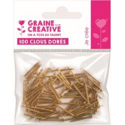 BAG OF 100 GOLDEN NAILS 20mm