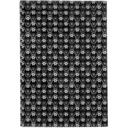 GLUEPATCH SHEET FLEUR NOIR BULK 30x40mm