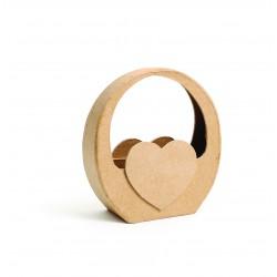 Cardboard basker 115mm x 40mm x 120mm - Heart