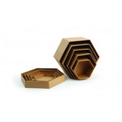 NEST OF 5 HEXAGONAL BOXES 93/