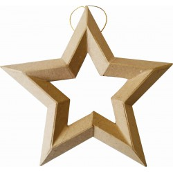 HANGING STAR IN CARDBOARD 190x200x25mm