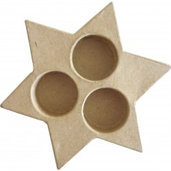 CANDLE HOLDER-STAR 130 X 150 X 25