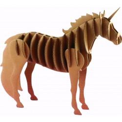 Cardboard model 3D 215mm x 40mm x 170mm - Unicorn