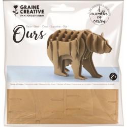 Cardboard model 3D 130mm x 60mm x 85mm - Bear