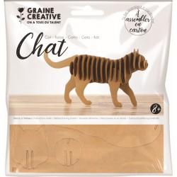 Cardboard model 3D 220mm x 110mm x 45mm - Cat