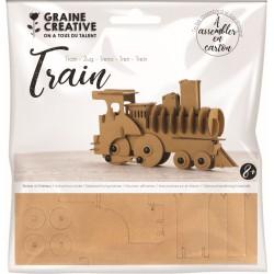 Cardboard model 3D 190mm x 110mm x 40mm - Train