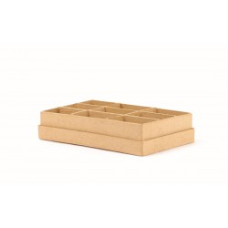 COMPARTMENTED BOX 191x115x38 mm