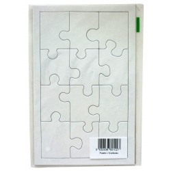 WHITE CARDBOARD PUZZLE 12 PIECES 200X120