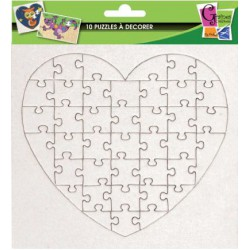10 PUZZLES HEART 40PCS 160X160MM