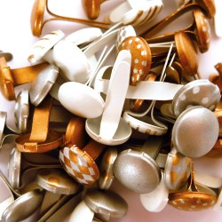 Brads 11mm - Gold and silver (60 pcs)