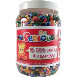 600 g BARREL OF 10,000 ASSORTED BEADS