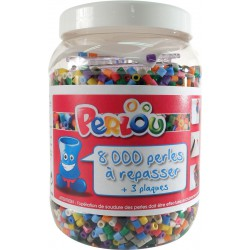 BUCKET OF 8000 BEADS+3 BOARDS+SHEETS