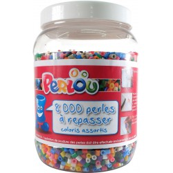 BUCKET OF 8000 ASSORTED BEADS (15 COLOURS)