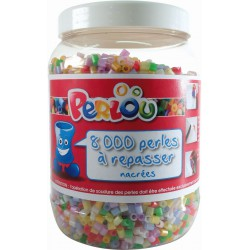 BUCKET OF 8000 PEARL BEADS (4 COLOURS)