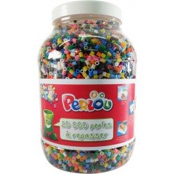 BUCKET OF 20000 ASSORTED BEADS (15 COLOURS)