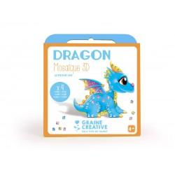 Kit mosaic card animals 3D - Dragon (4 pcs)