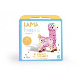 Kit mosaic card animals 3D - Lama (4 pcs)