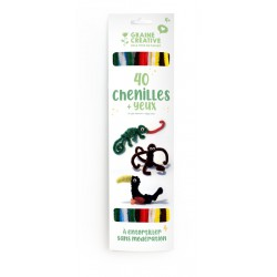 Chenille (40 pcs) + wiggle eyes - Basic