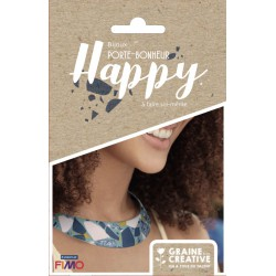KIT JEWELRY LUCKY CHARM HAPPY / PLASTRON TERRAZZO