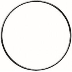 BLACK CIRCLE METAL HOOP Ø 200 mm