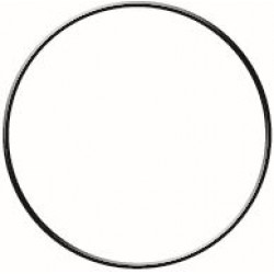 BLACK CIRCLE METAL HOOP Ø 250 mm