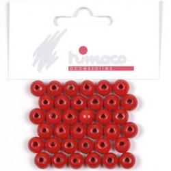 Houten parels 8mm rood P/75