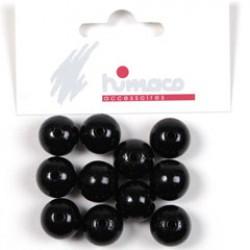 Houten parels 14mm zwart
