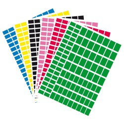 Repositionalbe rectangles - Assort. colors (18 sheets)