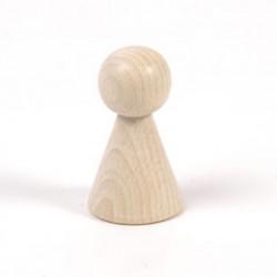 Houten figuurkegel 70mm konisch