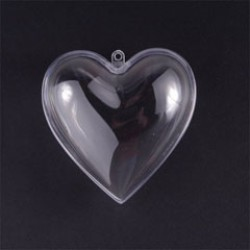 Plastic heart 6cm (5 pcs)