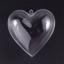 Plastic heart 8cm (5 pcs)