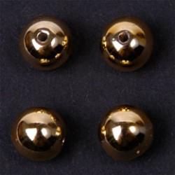 Wachsperlen 8mm gold P/15