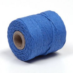 Katoenkoord 65m 1mm koningsblauw