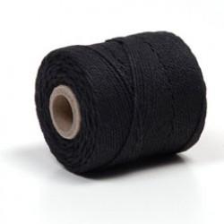 Katoenkoord 65m 1mm zwart