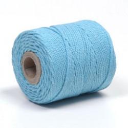 Koord macramé 75m 2,5mm azuurblauw