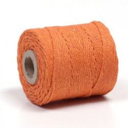 Koord macramé 75m 2,5mm oranje