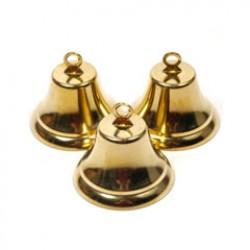 Metalen klok 32mm goud
