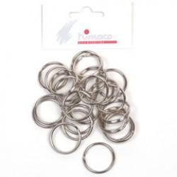 Metalen ring 25mm P/25 zilver