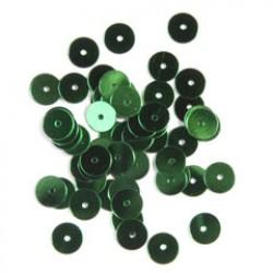Pailletten 6mm P/500 groen